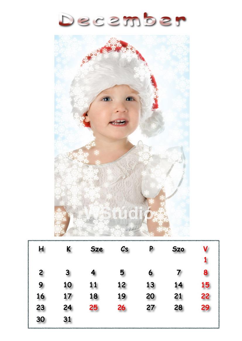 2019 - es naptár minta oldal