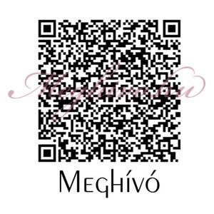 QR kódos meghívó nyitó oldala