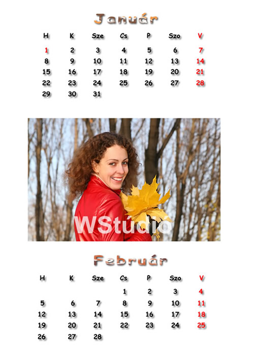 2018 - as hétlapos naptár!