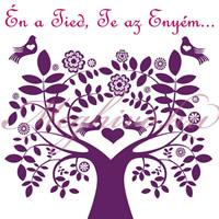 Magyaros meghívó szerelemfa