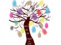 Esküvői ujjlenyomat fa - egy élő vendégkönyv