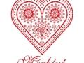 magyaros esküvői meghívó mézeskalács mintával